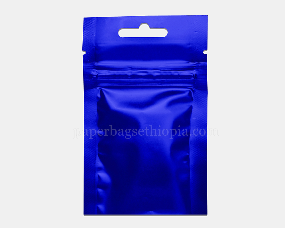 3 gm blue three side seal bag