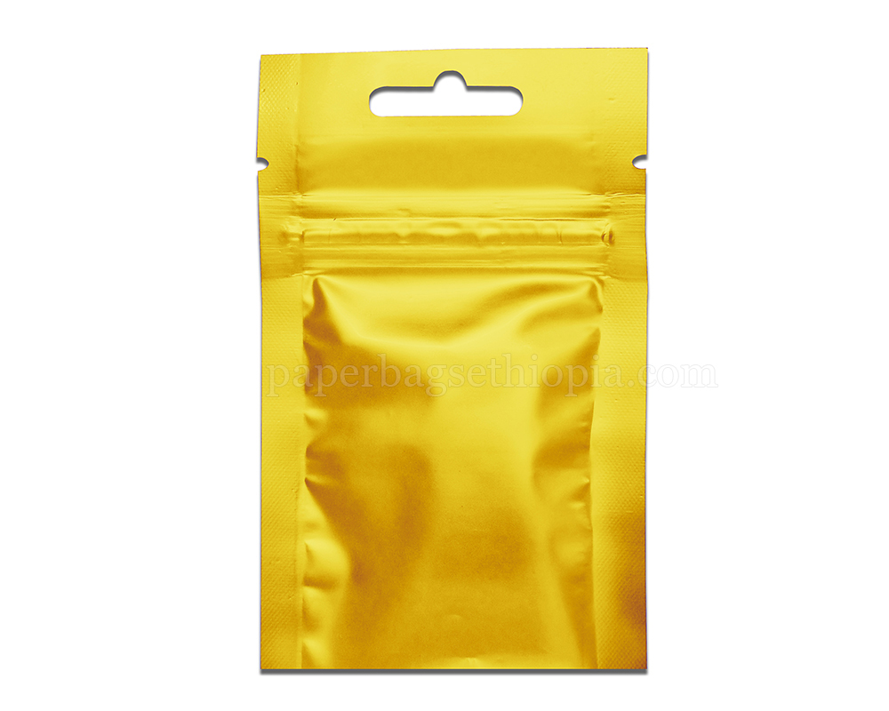 3 gm gold three side seal bag
