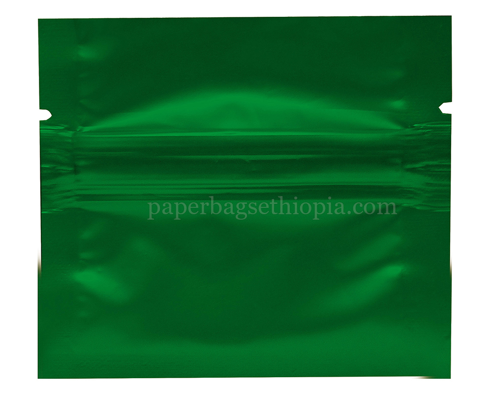 1 gm green three side seal bag