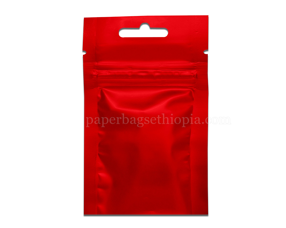 3 gm red three side seal bag