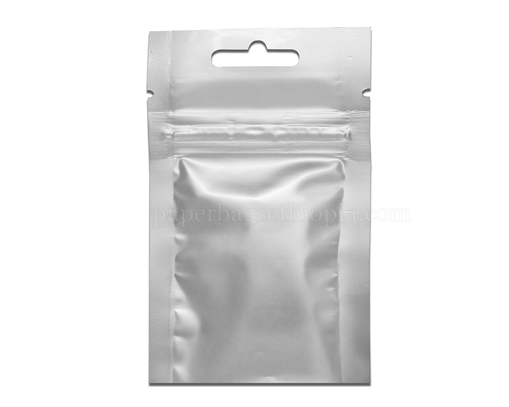 3 gm silver three side seal bag