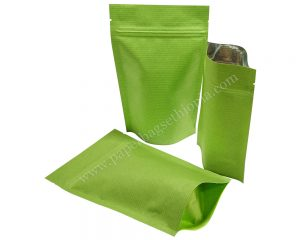 Green Stripped Paper Bag