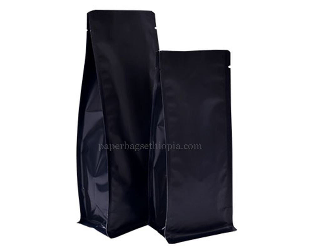 Matt Black Pouches Bags Without Zipper