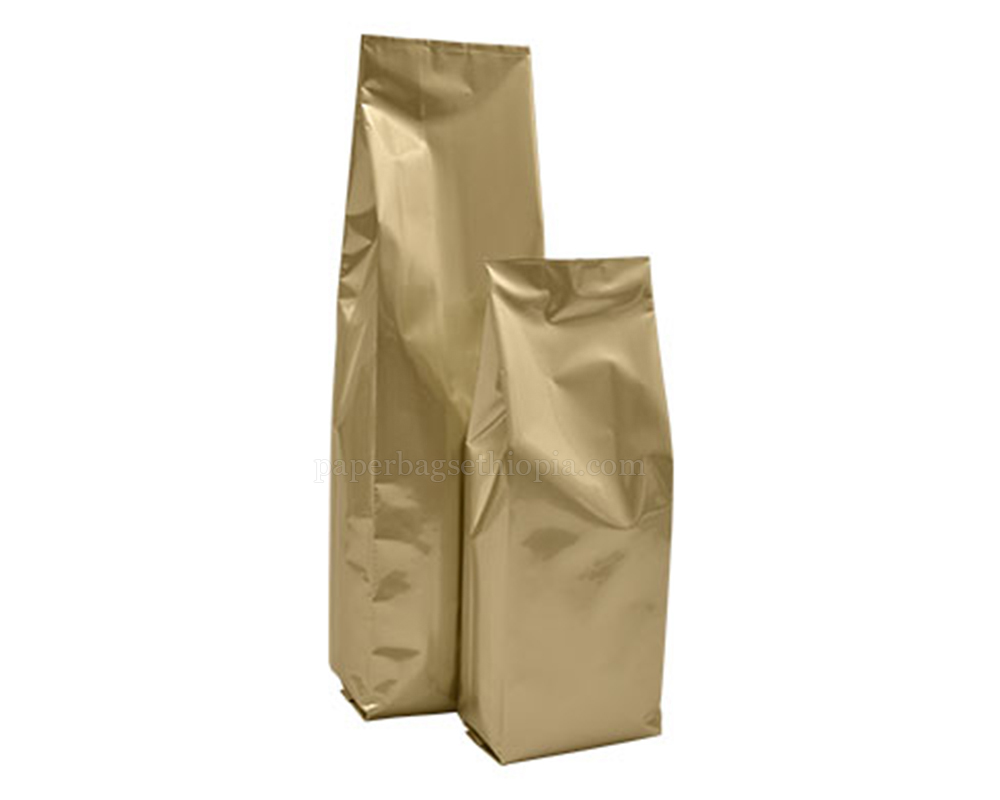Matt Gold Pouches Without Zipper