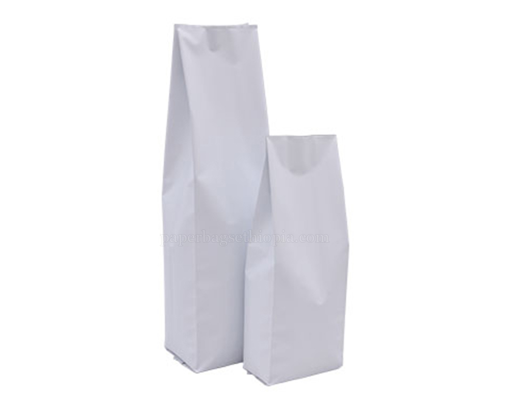 Matt White Pouches Without Zipper