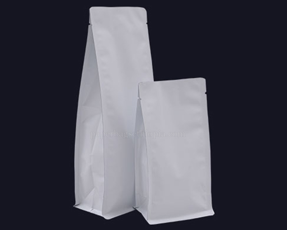 Matt White Pouches Bags Without Zipper