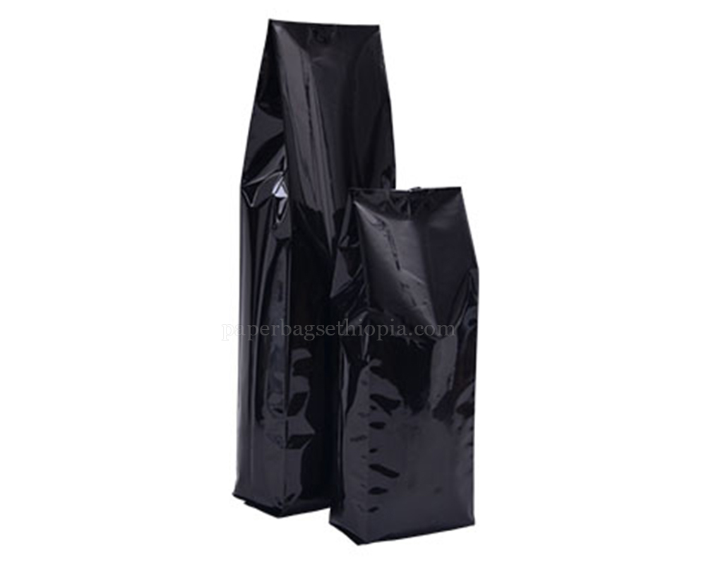 Shiny Black Pouches Without Zipper
