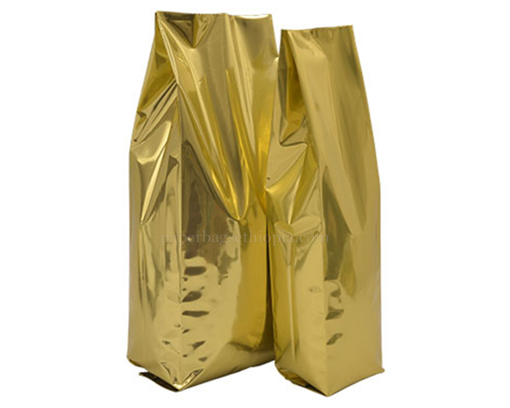 Shiny Gold Pouches Without Zipper