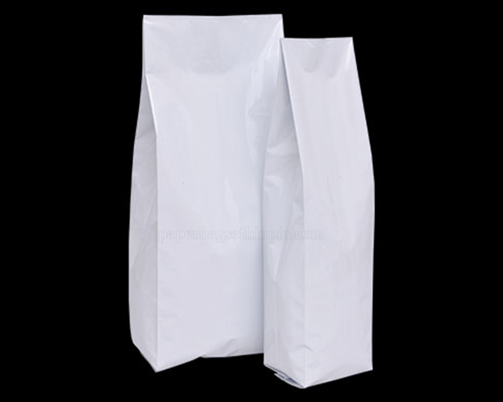 Shiny White Pouches Without Zipper