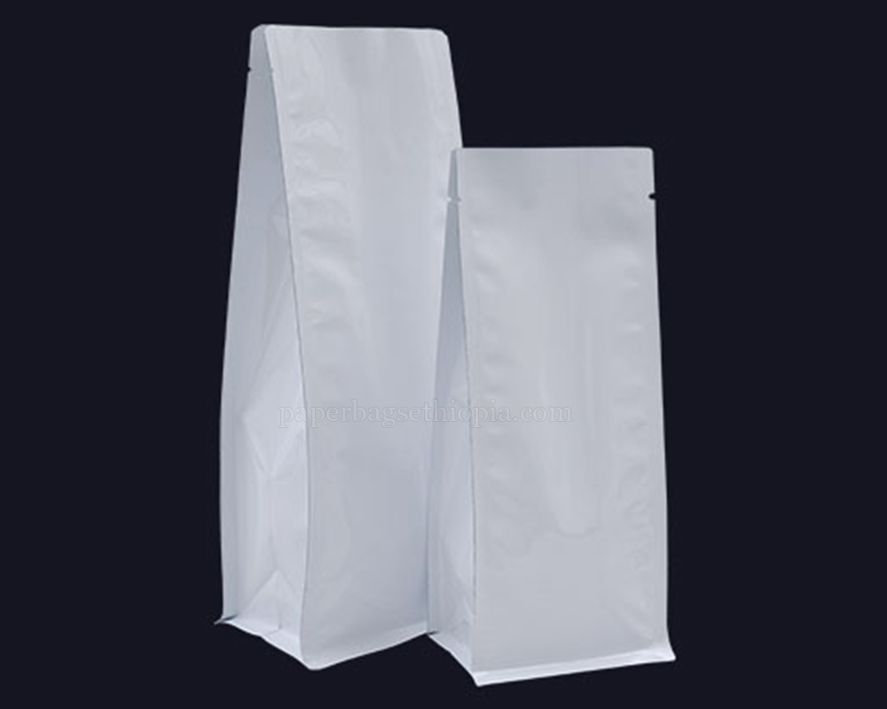 Shiny White Pouches Bags Without Zipper